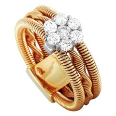 Oro Trend 18 Karat Rose and White Gold 0.50 Carat Diamond Ring
