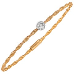 Oro Trend 18 Karat Rose Gold 0.20 Carat Diamond Bracelet