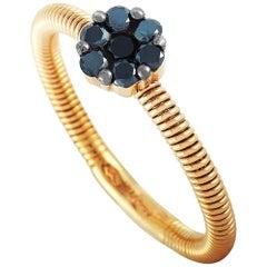 Oro Trend 18 Karat Rose Gold 0.24 Carat Diamond Ring