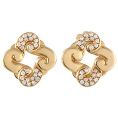 Oro Trend 18 Karat Rose Gold 0.35 Carat Diamond Stud Earrings