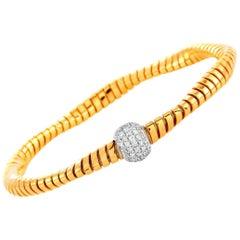 Oro Trend 18 Karat Rose Gold 0.39 Carat Diamond Bracelet