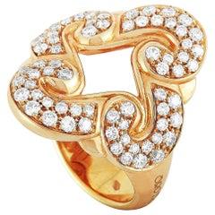 Oro Trend 18 Karat Rose Gold 0.91 Carat Diamond Ring