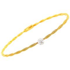 Oro Trend 18 Karat Rose Gold and 0.20 Carat Diamond Bracelet