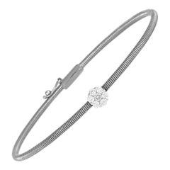 Oro Trend 18 Karat White Gold 0.22 Carat Diamond Bracelet