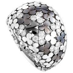 Oro Trend 18 Karat White Gold 0.66 Carat Diamond Ring