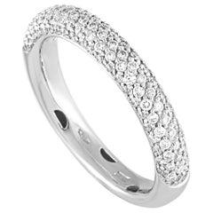 Oro Trend 18 Karat White Gold 0.69 Carat Diamond Ring