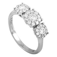 Oro Trend 18 Karat White Gold 1.10 Carat Diamond Ring