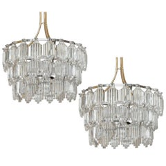 Orrefors Art Deco Influenced Crystal Chandelier