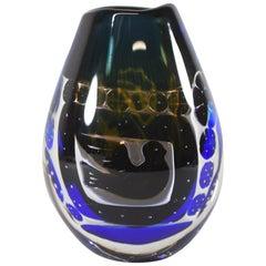 Orrefors Art Glass Vase Edwin Ohrstrom 957913 Ariel Gallery 45-86