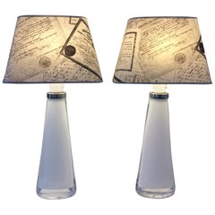 Orrefors Carl Fagerlund a Pair of Table Lamps
