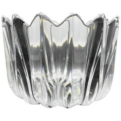 Orrefors Crystal Fleur Bowl by Jan Johansen