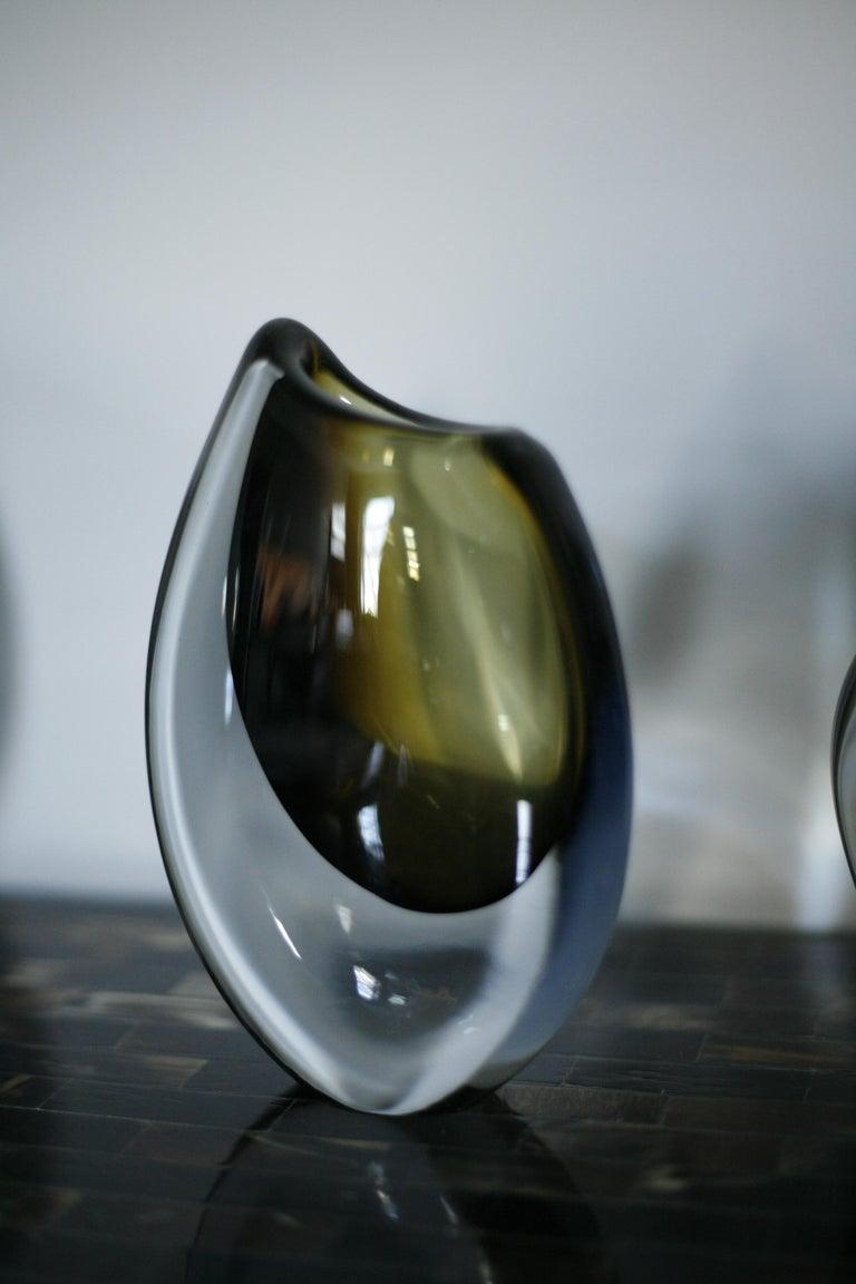 Mid-Century Modern Orrefors Crystal Glass Vase, Sweden, 1960 For Sale