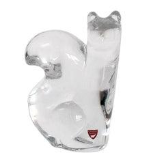 Orrefors Crystal Squirrel Figurine by Olle Alberius