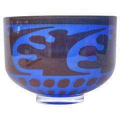 Orrefors Graal Glass Bowl by Gunnar Cyren Vintage