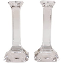 Orrefors Regina Candlesticks in Crystal