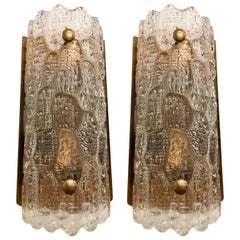 Orrefors Swedish 1950s Crystal Wall Lights