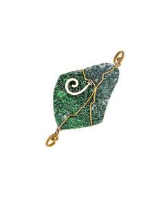 Orsa Maggiore Uvarovite Garnet Diamonds Titanium Pendant