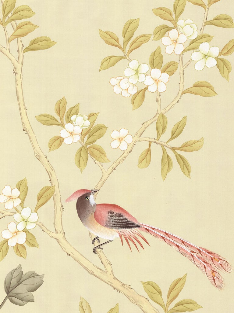 American Orsay Garden Chinoiserie Mural For Sale