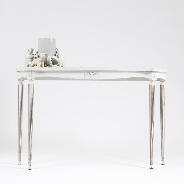 "Modern ""Orsi"" Console Table with 3D Resin Top by Emanuela Crotti For Sale"