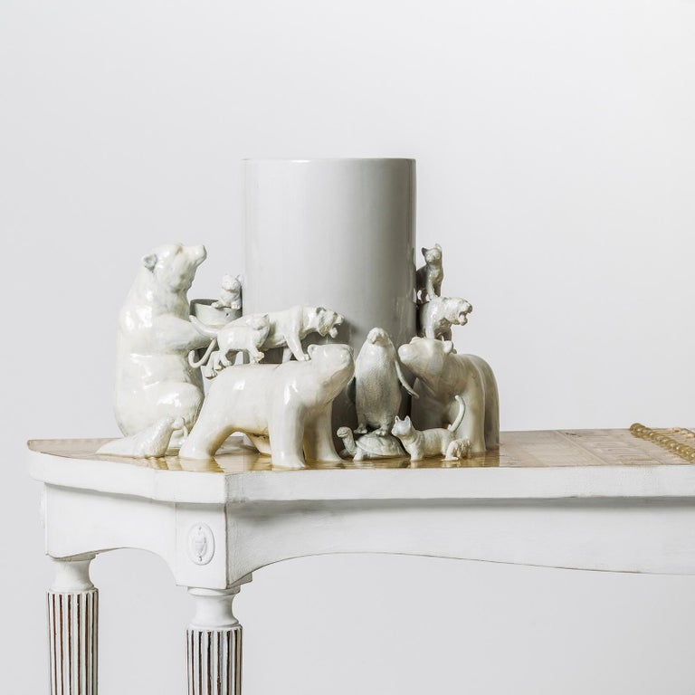 "Contemporary ""Orsi"" Console Table with 3D Resin Top by Emanuela Crotti For Sale"