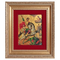 Orthodox Icon / St. George and the Dragon