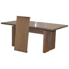 Orum Mobler Denmark Contemporary Solid Ashwood Extending Dining Table