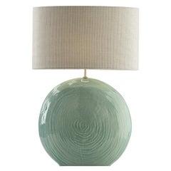 Orus Ceramic Table Lamp Green