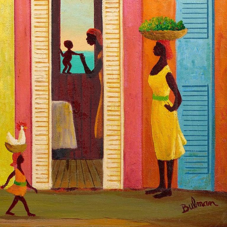 Juchoir - Brown Figurative Painting by Orville Bulman