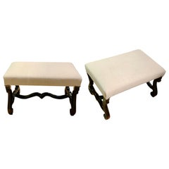 Os D' Mouton Pair of Footstools, France, 19th Century