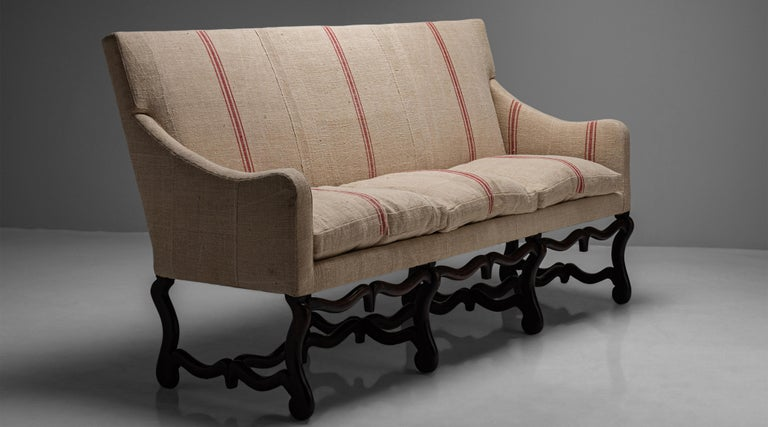 Late 18th Century Os de Mouton Sofa, France, circa 1790 For Sale
