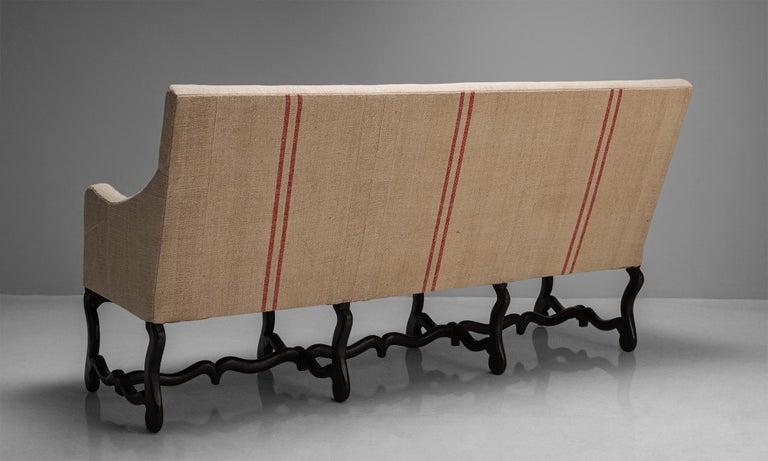 Linen Os de Mouton Sofa, France, circa 1790 For Sale