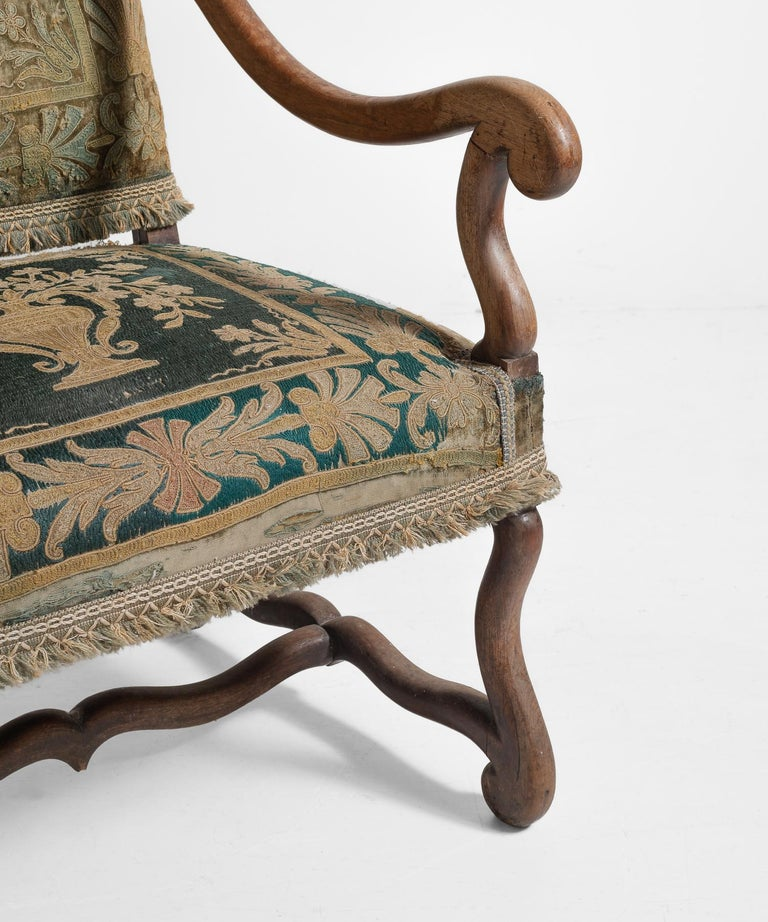 English Os de Mouton Tapestry Chair, circa 1870 For Sale