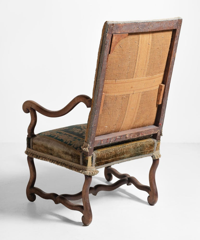 Os de Mouton Tapestry Chair, circa 1870 For Sale 3