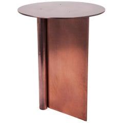 Os Table Medium in Matte Aluminium, Blackened, and Satin Brass