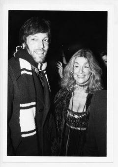 Actress Sylvia Miles and Richard Chamberlain on an evening event, circa 1970s.