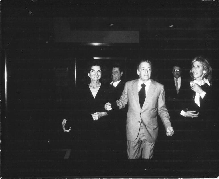 Oscar Abolafia Black and White Photograph - Jackie Kennedy & Frank Sinatra - Original Press Photo