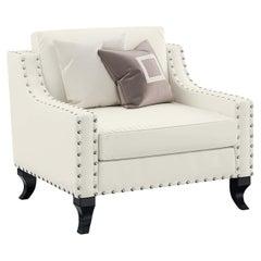 Oscar Armchair with Silver Leaf Details