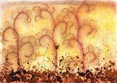 Watercolor Abstract - Composicion Cafe