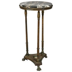 Oscar Bach Iron and Marble Pedestal Table