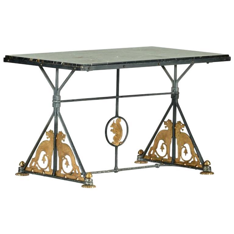 Oscar Bach Marble Coffee Table, 1920s