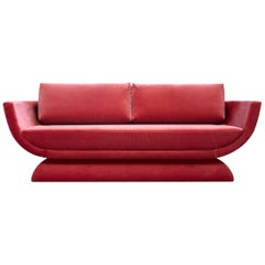Oscar Contemporary Velvet Sofa