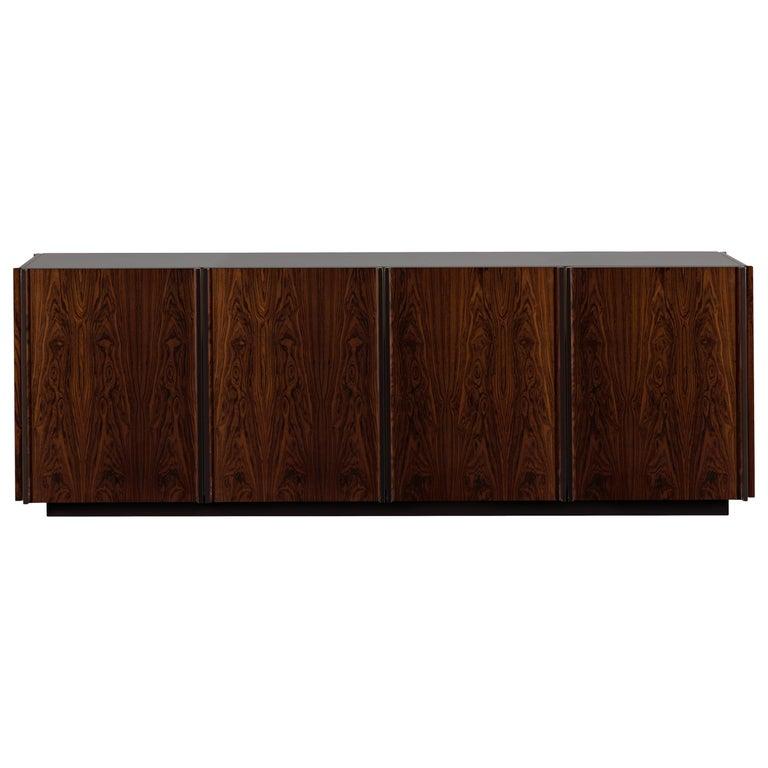 Oscar Credenza Natural Wood Handmade Sophisticated Details 240 For Sale