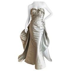 Oscar de la Renta 2014 Met Ball Silver Strapless Ballgown Homage Charles James
