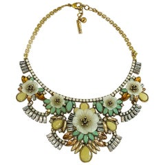 Oscar de la Renta Art Deco Style pastel necklace