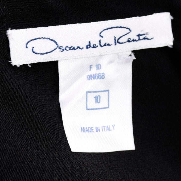 Oscar de la Renta Autumn Winter 2010 Black Wool Asymmetrical Runway Dress For Sale 9