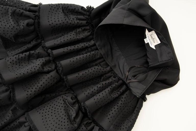Oscar de la Renta Black Punched Silk Faille Evening Skirt, Fall 2001 For Sale 10