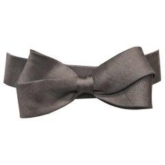 Oscar De La Renta Black Woven Belt W/ Bow