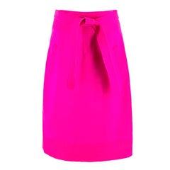 Oscar de la Renta Bright Pink Pencil Skirt US 8