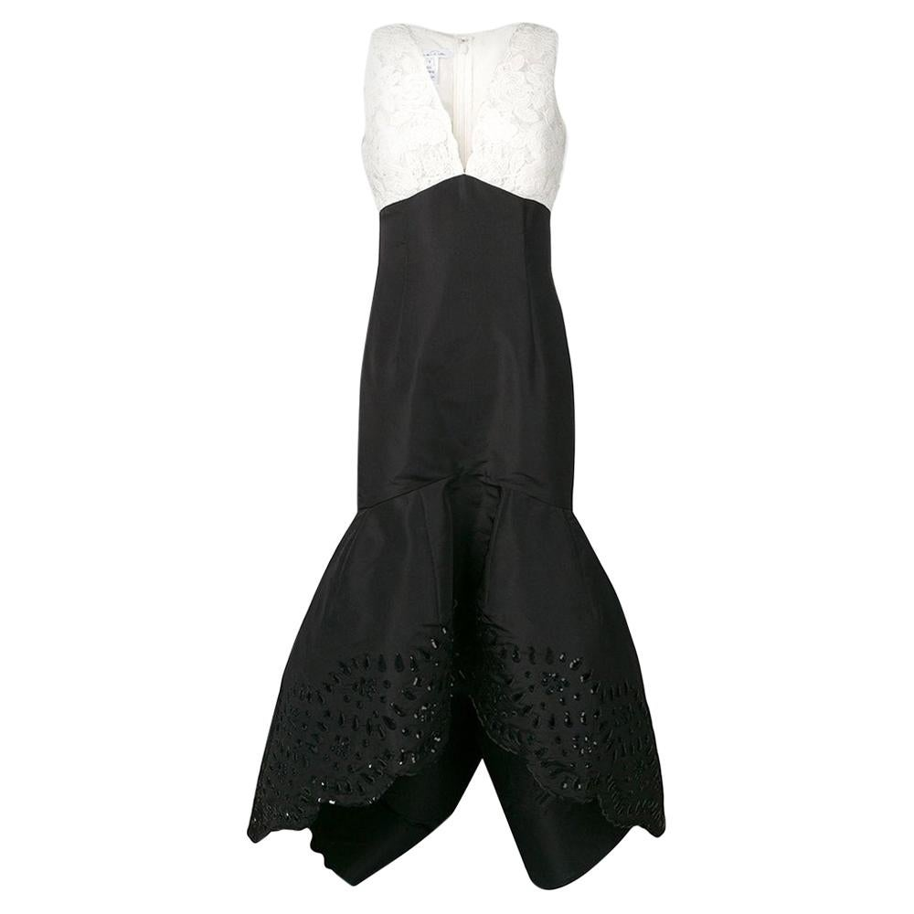 Oscar De La Renta Embellished Couture Gown