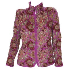 Oscar De La Renta F/W 2004 Cashmere Studded Embroidered Limited Edition Jacket 4